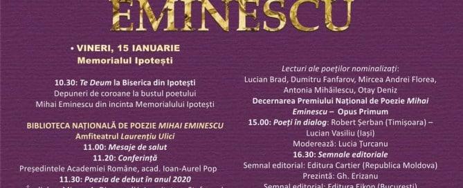15 ianuarie - Ziua Culturii Naționale